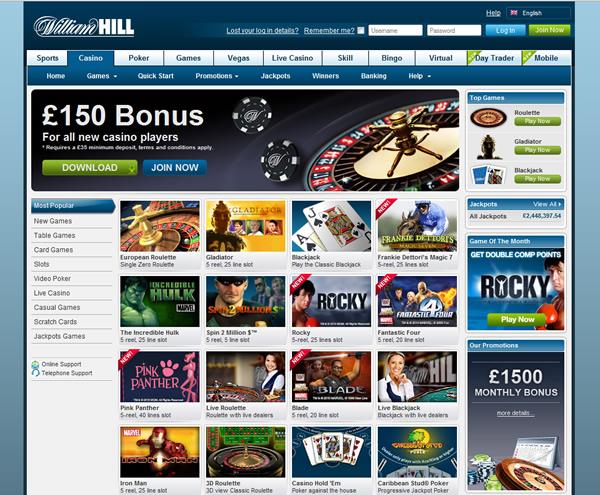 william hill online casino book of raw
