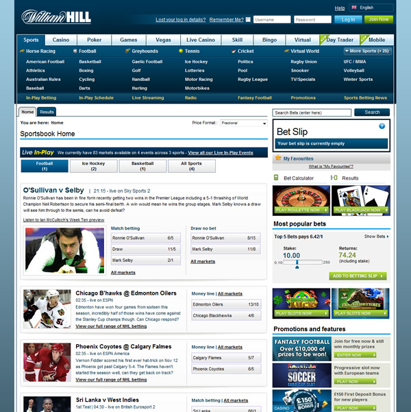 sports william hill football